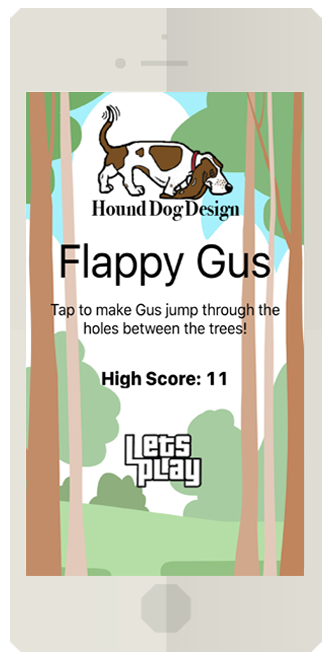 ThrowbackThursday to Flappy Gus App | Hound Dog Design